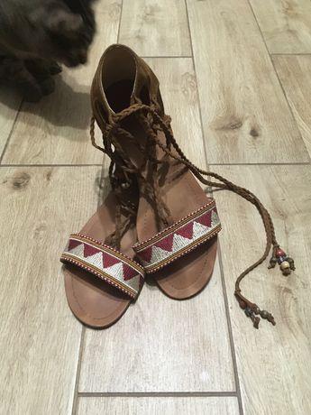 Sandały wiązane #boho #etno