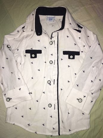 Рубашка белая 86