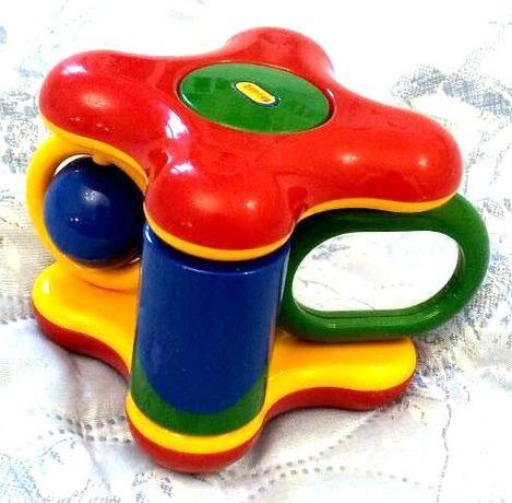 Развивающая игрушка с погремушкой Tolo Куб для малышей от 6 месяцев