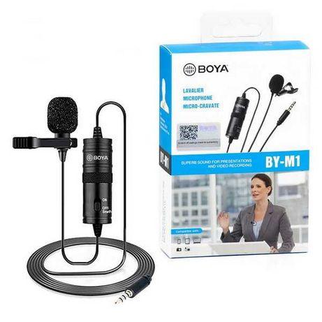 Петличный микрофон BOYA BY-M1 3.5мм петличка для телефона  пк и камеры