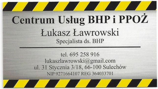 Usługi z zakresu BHP ( szkolenia wstępne ogólne i okresowe)