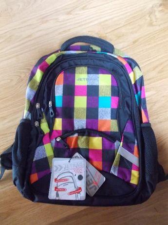 Plecak młodzieżowy JETBAG - Kolorowa Krata NOWY