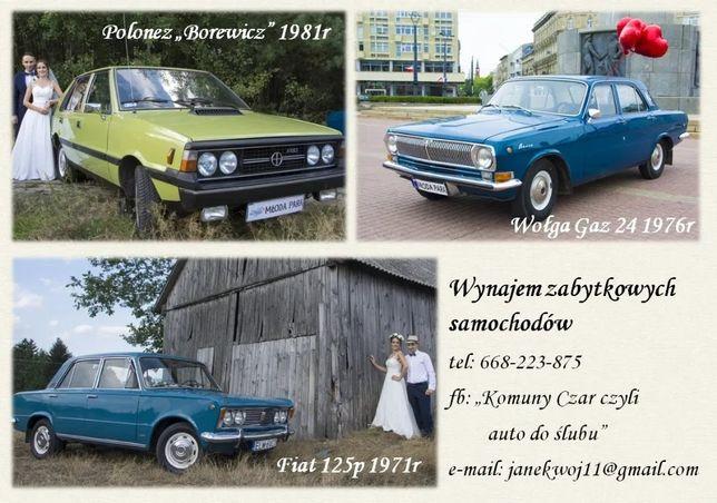 Wołga Gaz 24 Fiat 125p Polonez Borewicz do ślubu