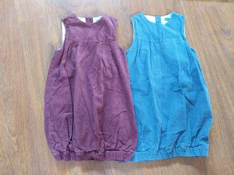 Lote 2 vestidos bombazina 7-8 anos