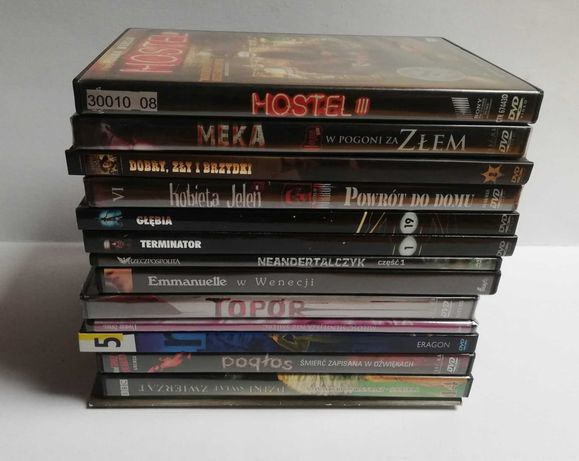 Oryginalne filmy DVD: horrory, SF, thriller, różne - 7 zł/sztuka