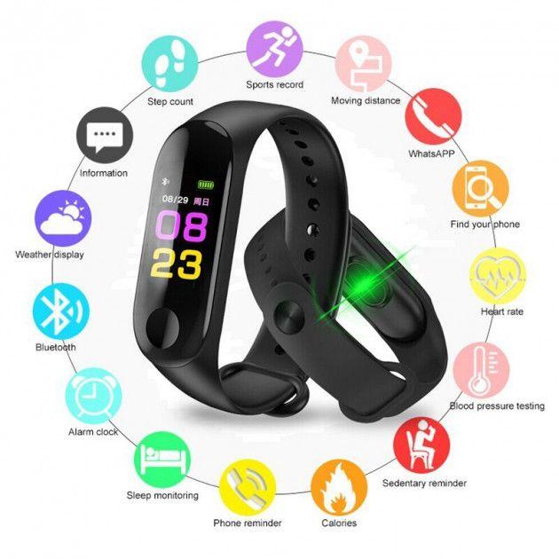 Смарт-часы фитнес-браслет Smart Watch M3 Львов - изображение 1