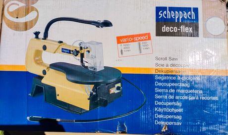 Wyrzynarka piła stołowa z wiertarką Scheppach Deco-flex