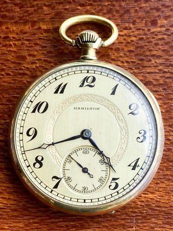 Relógio de bolso Hamilton em OURO 1924