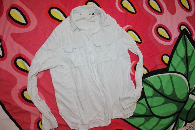 Рубашка белая на S_M сорочка накидка