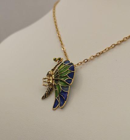 Piękna Zawieszka , motyl, ważka. Złoto pr. 585 . Super na prezent