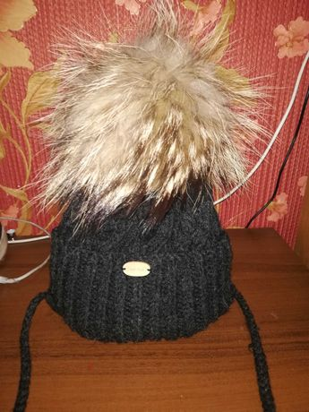 Зимняя детская шапочка 3.4.годика.