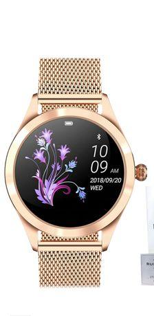 Smartwatch damski zegarek damski bransoleta różowe złoto wodoszczelny