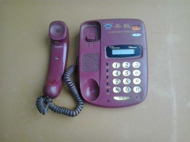 Стационарный кнопочный телефон с LCD экраном