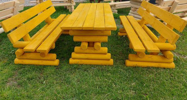 Zestaw ogrodowy- Stół + 2 ławki