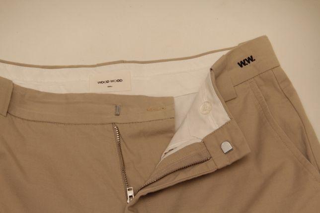 Wood Wood Alwin Trouses S SS18 чино брюки с добавление льна