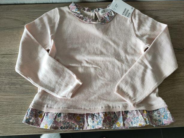 H&M Sweter nowy różowy roz 110/116