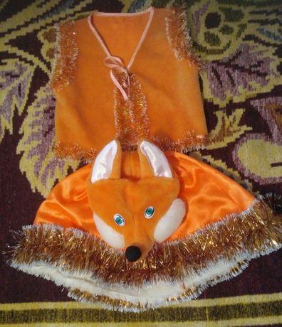 Карнавальный костюм лисички на девочку