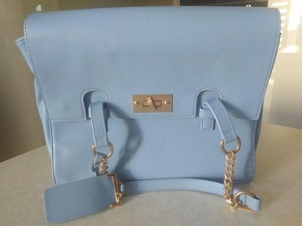 Błękitna torebka listonoszka Orsay