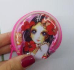 девочке маленький кошелек сумочка на молнии розовая красивый