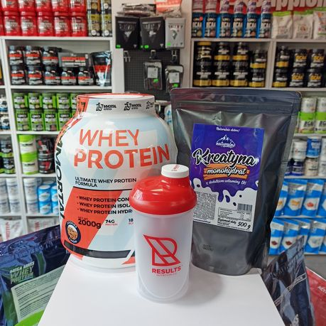 IMMORTAL Whey Protein 2kg białko Gratis Kreatyna i Shaker, Odżywki
