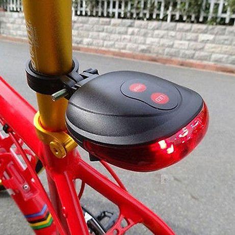 Фонарь для велосипеда - заднего света с лазерными лучами