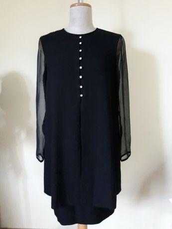 Czarna elegancka sukienka M/38 suknia nowa na różne okazje