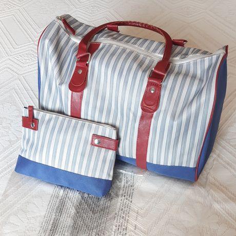 Saco de fim de semana (novo embalado) com bolsa para cosméticos