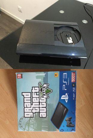PS3 slim 500G c/ cx +35 JG+Wonderbook+2comandos e camera