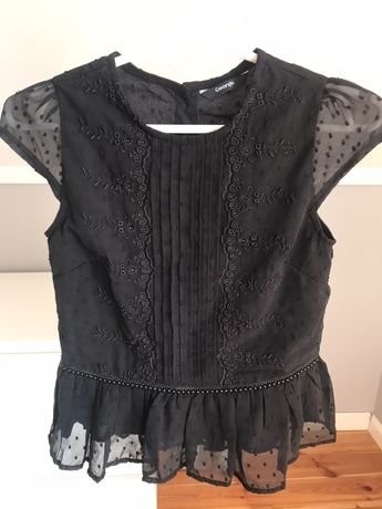 Elegancka czarna bluzka george 10-11 lat 11-12 XXS 140-146 cm
