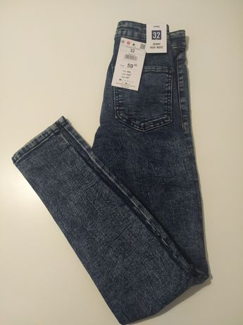 Jeansy skinny high waist