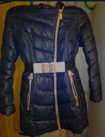 Куртка женская зимняя с поясом