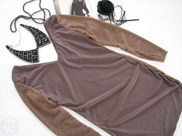 włoska sukienka mieniąca nitka