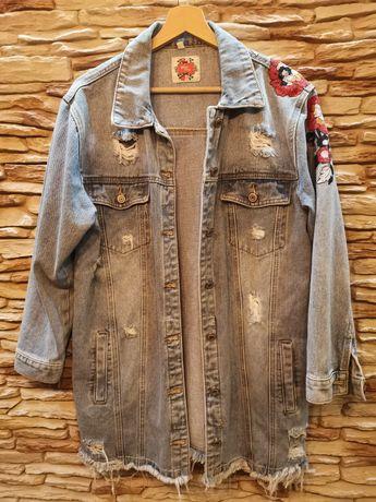 Damska kurtka jeansowa M oversize
