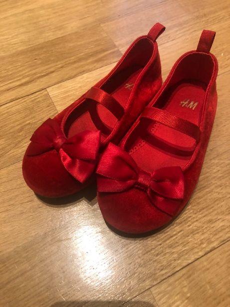 Balerinki dziewczęce czerwone H&M rozm. 25