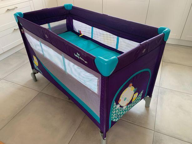 Łóżeczko turystyczne Baby design + przewijak, materac