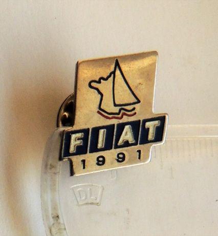 odznaka FIAT sygnowana emalia