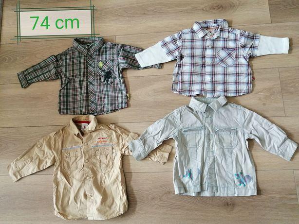 Zestaw ciuszków chłopięcych/bluzki/spodnie/ 12 szt. rozm. 74/80