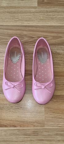 Baleriny różowe perłowe róż. 34