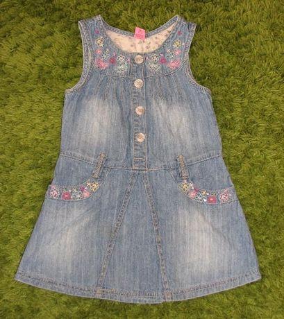 Jeansowa sukienka dla dziewczynki 5 latek 110 cm