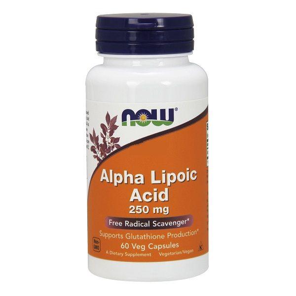 Альфа-липоевая кислота, Now Foods, 250 мг, 60 капсул Киев - изображение 1
