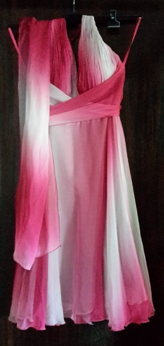 Vestido Rosa e Branco Turquel - imagem 1