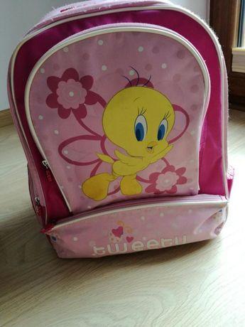Plecak szkolny dziewczęcy różowy tweety
