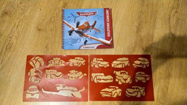 Szablony zygzak McQueen i Książka Samoloty