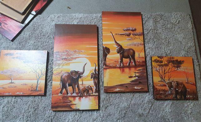 Obrazy tryptyk zwierzęta