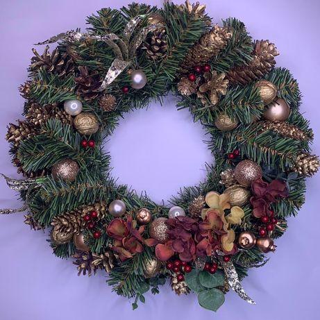 Рождественский венок, новогодний венок