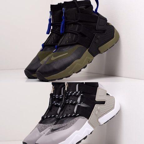 Кроссовки Nike Air Huarache Gripp серые Кроссы мужские найк аир хуарач