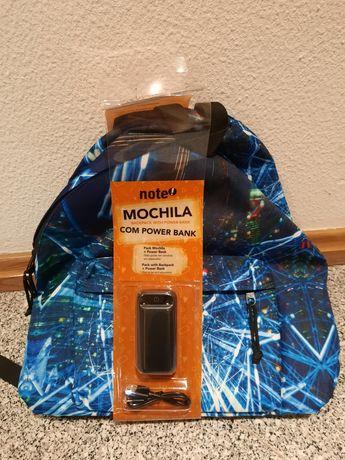 Pack Mochila + power bank novas NOTE