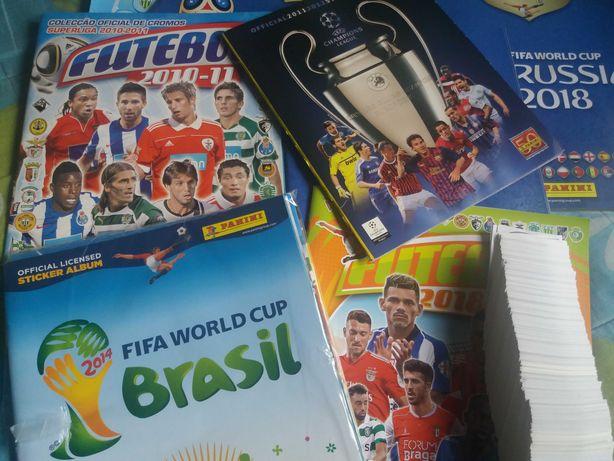 Cadernetas Vazias/ Coleccoes Completas de Cromos Futebol