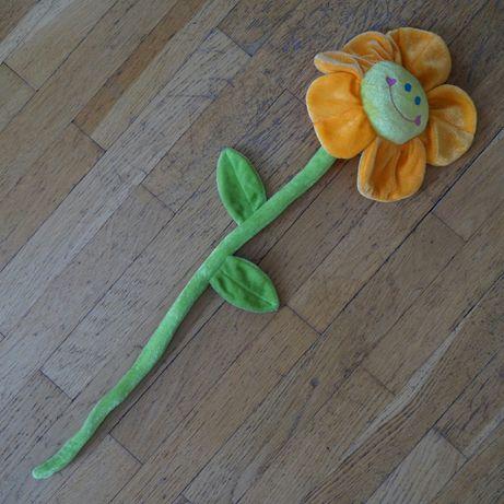 Мягкая игрушка Цветочек оранжевый большой с петелькой