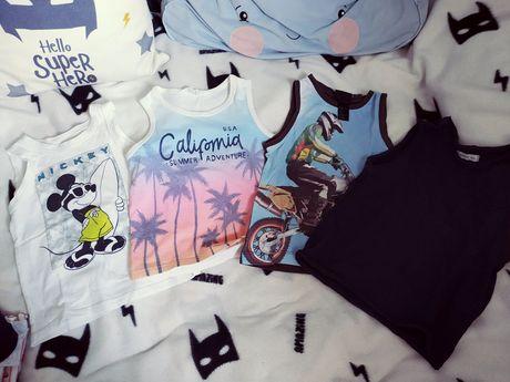 Koszulki na ramiączkach rozm 92-98 H&M Reserved Myszka Miki bluzka